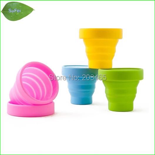 OD02 folding silica gel cup magic cup collapsible silicone storage bowl