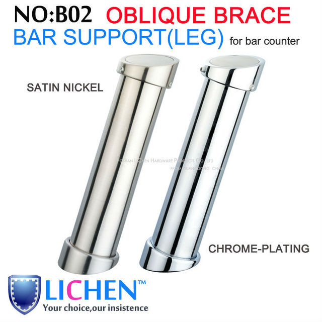 Chrome-plating/Brushed Nickel Furniture Bar table Legs&Oblique support for bar table furniture parts(2pieces/lot)LICHEN