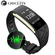 S2 Bluetooth Smart Браслет сердечного ритма Мониторы IP67 Водонепроницаемый SmartBand браслет для Android IOS телефон трекер