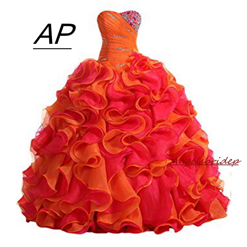 f9ae8a6a25 HOT SALE] Princess Pink Quinceanera Dresses Ruffles Organza ...