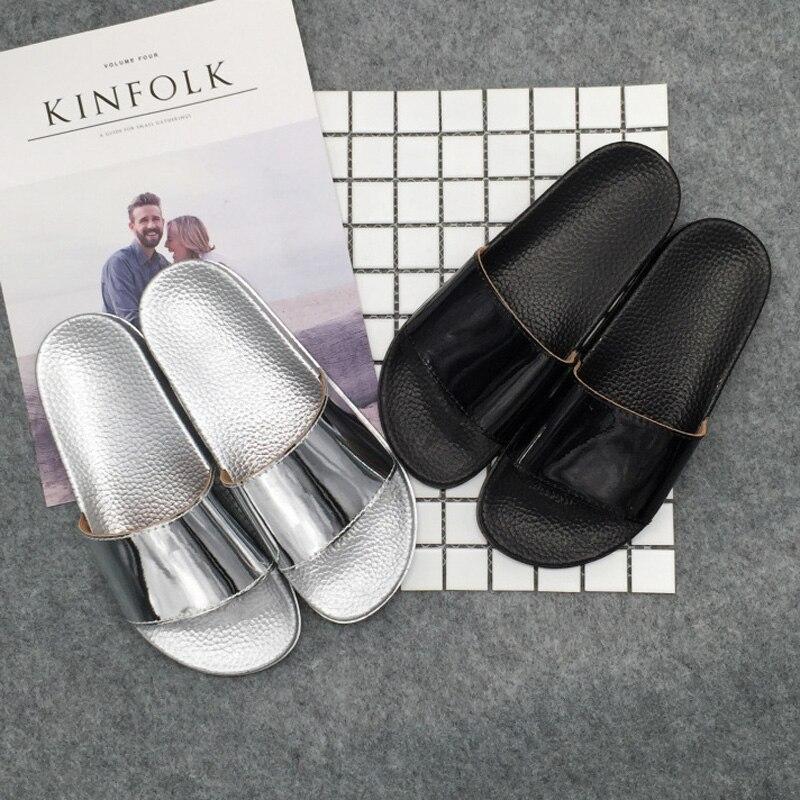 Women Slides 2018 Fashion Slippers Platform Sandals Summer Bling Beach  Slides Flip Flops Comfortable Flat Shoes Chaussure Femme free shipping  worldwide d4be30c51600