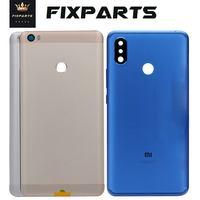 Cep telefonları ve Telekomünikasyon Ürünleri'ten Cep telefonu yuvası'de Xiao mi mi MAX pil kapağı arka kapı arka konut Case mi ddle şasi yedek için Max2 Xiao mi mi Max 2 pil kapağı