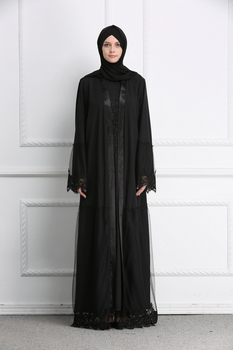 MZ Garment Muslim Dress Dubai Kaftan For Women Long Sleeve Long Dress Abaya Islamic Clothing Girls Arabic Caftan Одежда
