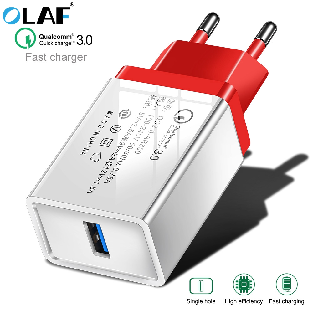 OLAF USB Charger Quick Charge 3.0 for iphone 7 8 Plus Xs X QC 3.0 Phone Charger For Xiaomi Redmi Note 7 For Huawei mate 20 pro image