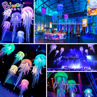 2.5M/8.2ft inflatable decorating jellyfish balloon/ led inflatable jellyfish balloon/ inflatable led jellyfish inflatable toy