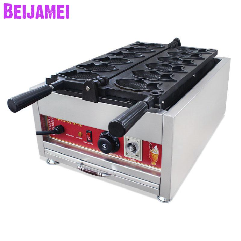 BEIJAMEI Electric Taiyaki Making Machine commercial taiyaki waffle maker machine Fish cake making machine for sale