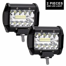 2pcs 4inch 60w LED work light bar combo beam car Driving light for OffRoad 4WD 4x4