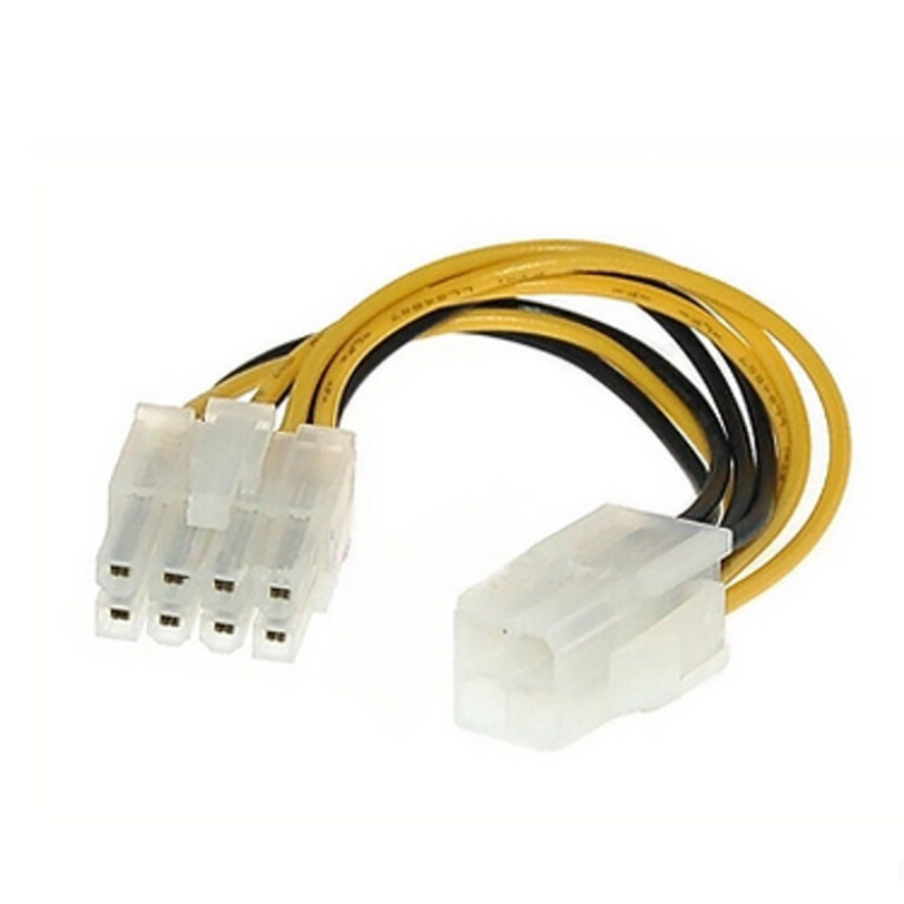ATX 4 Pin Male to 8 Pin Female EPS Power Cable Cord Adapter CPU Power Supply Jul1 Professional Factory Price Drop Shipping