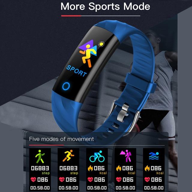 IP68 Waterproof Smart Bracelet Pedometer Heart Rate Monitor Blood Oxygen Fitness Tracker Smart Wristband Multi Sport Smart Band 6