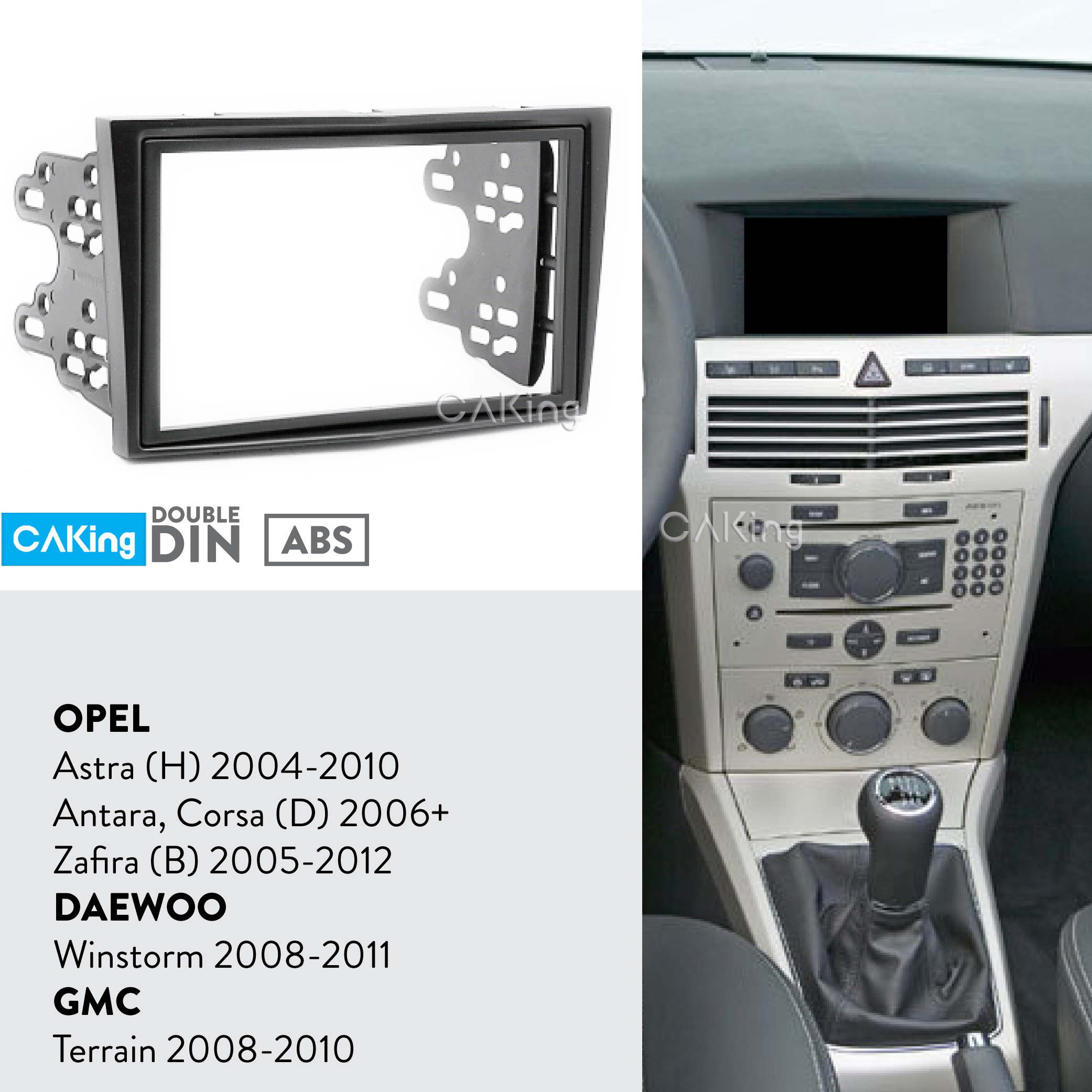 Vauxhall Corsa D Zafira Astra Fascia//Facia Panel Adapter Single DIN Surround