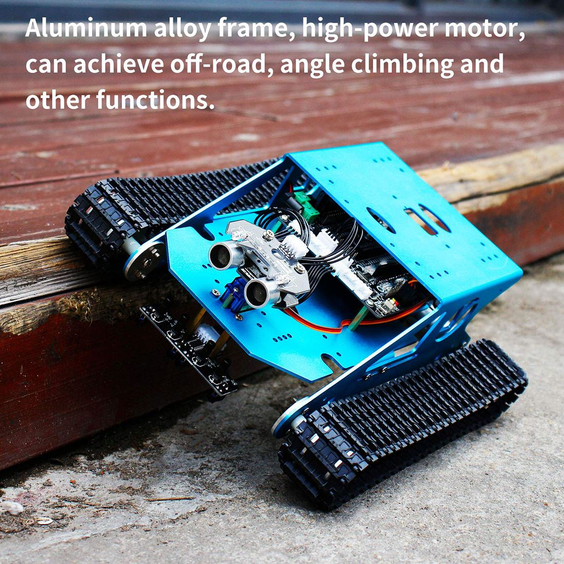 Track Robot Kit Programmable Smart Tank Mobile Platform Chassis Robot Kit Electronic Project Learning For Arduino UNO R3