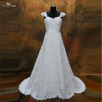 RSW201 Lace Wedding Dresses With Cap Sleeves