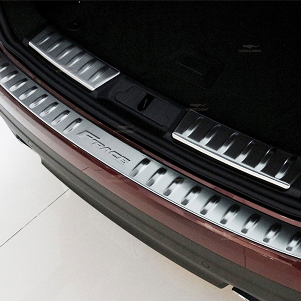 Buy Trunk Rear Bumper Door Sill Threshold Guard Plate Board Trim Cover Sticker for Jaguar f pace F-pace Interior Accessories for $75.00 in AliExpress store