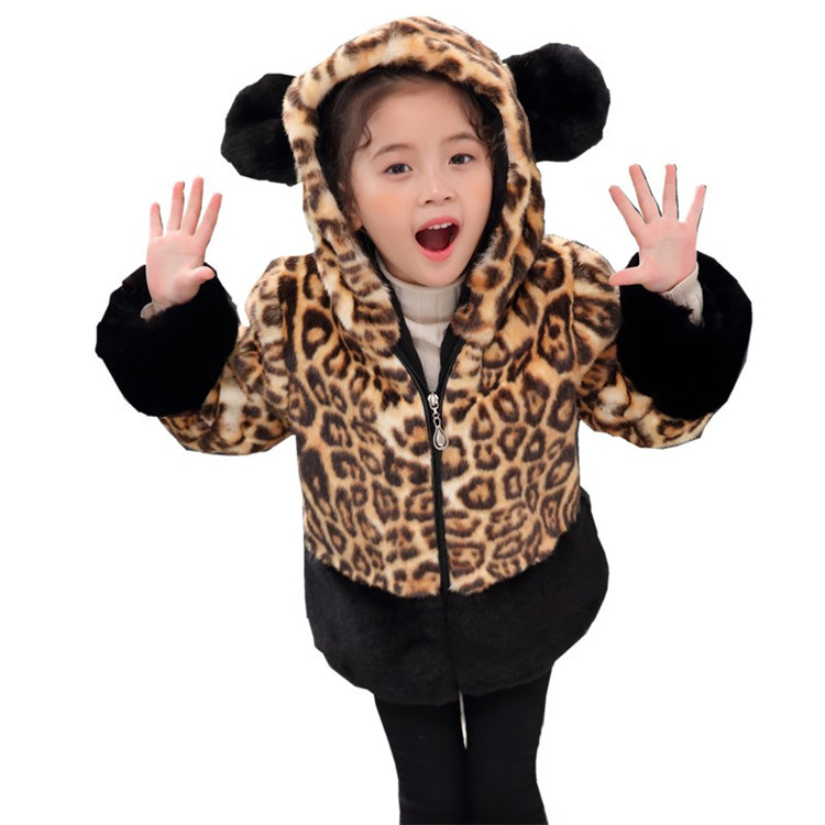 T01 new winter jacket leopard fur coat boy and girl cotton padded jacket warm and thickened Padded Overcoat Hooded Faux fur Coat new 2017 men winter black jacket parka warm coat with hood mens cotton padded jackets coats jaqueta masculina plus size nswt015