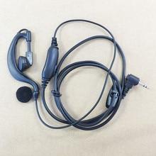 Honghuismart Big PTT 2.5mm jack headphone for MOTOROLA T5428,T5620,T5,T6,T7,T8,HYTERA TC310,TC320,TYT TH 2R,3R walkie talkie