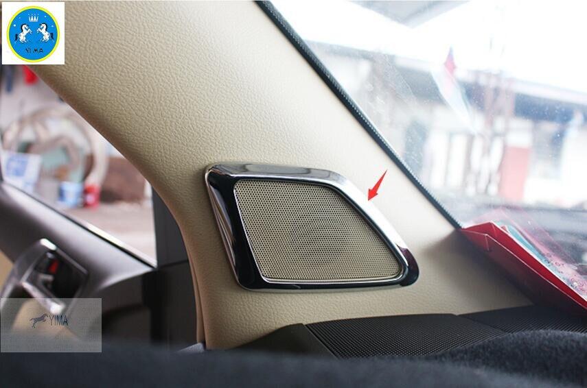 Интерьер Для Toyota Land Cruiser Prado FJ150 2014 2015 2016 Двери крома Стереосистема Крышка Внутренней Отделки 2 шт./НАБОР