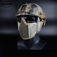 Tactical Half Face Metal Steel Net Mesh Mask Hunting Protective Guard Airsoft Ear Protection