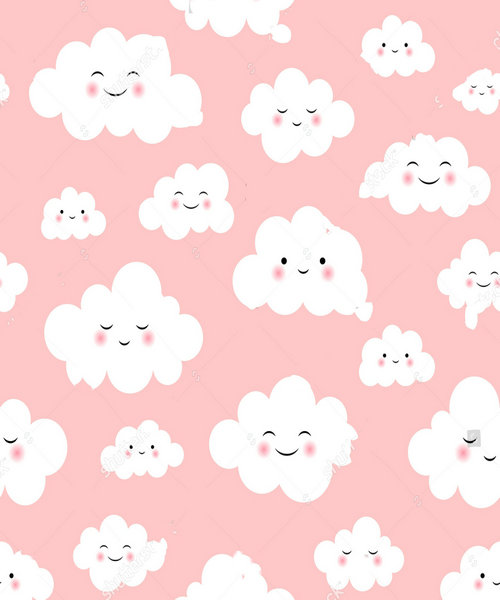 baby cloud Cute pink backdrop polyester or Vinyl cloth High quality Computer print wall photography backgrounds