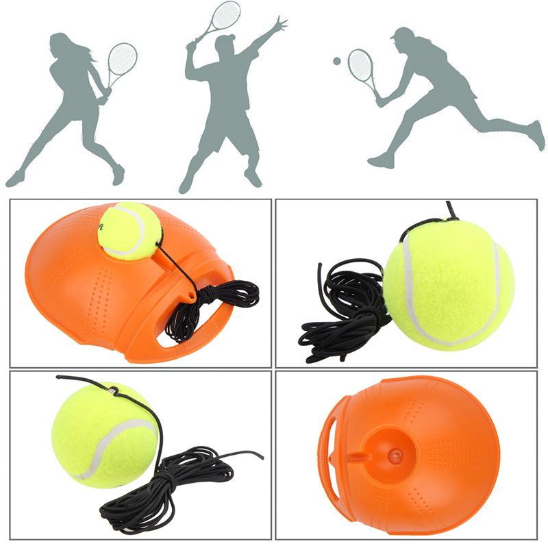 2018 Top Quality Tennis Training Primary Tool Exercise Tennis Ball Self-study Rebound Ball Tennis Trainer Baseboard dropshipping