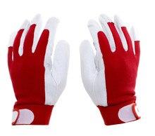 Бесплатная доставка 2 пар качество натуральная кожа безопасности защитные перчатки эластичные манжеты