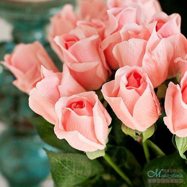 simulation roses flower buds artificial flowers set suit simulation roses flower buds artificial flowers set suit living room decoration silk flowers festival fest mightylinksfo
