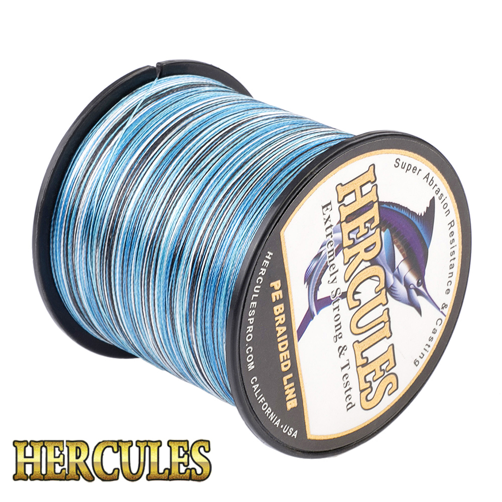 Hercules 4 Stränge Hohe Qualität Geflochtene Linie 100 M 300 M 500 M 100 0 M 1500 M 2000 M PE Angelschnur Salzwasser Weben Angelschnur Pesca