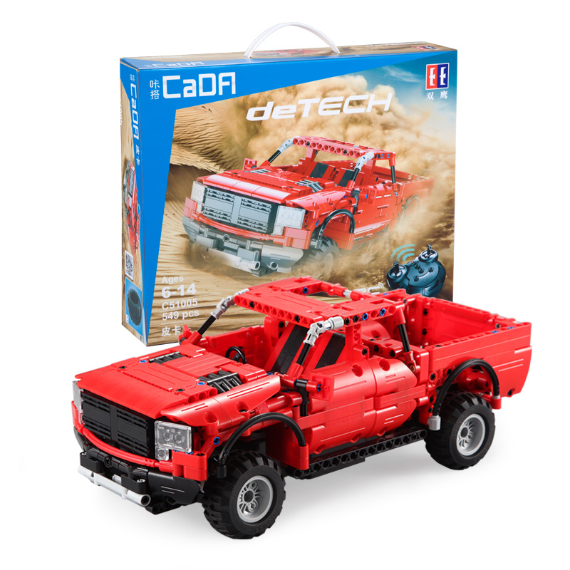 549pcs Technic Vehicles RC Remote Control Car SUV Building Blocks Bricks 2 4Ghz Electric Red Pickup