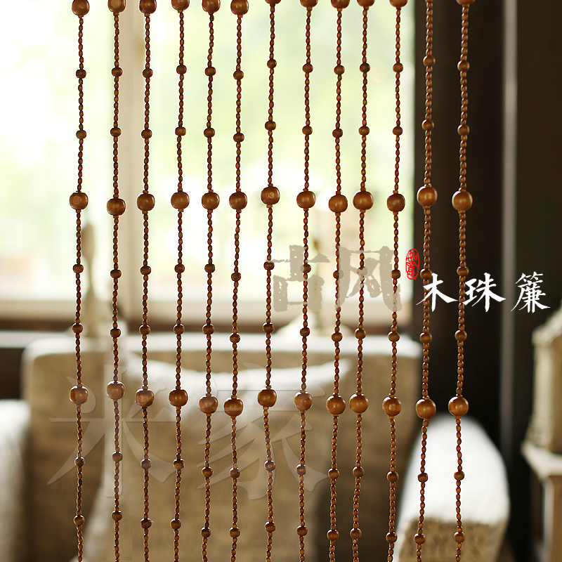 Free Shipping Bead Curtain Made Of Wood In Curtains From Home Garden On Aliexpress