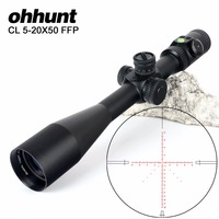 ohhunt CL 5 20X50 FFP First Focal Plane Side Parallax Glass Etched Reticle Lock Reset Scope with Bubble Level Hunting Riflescope