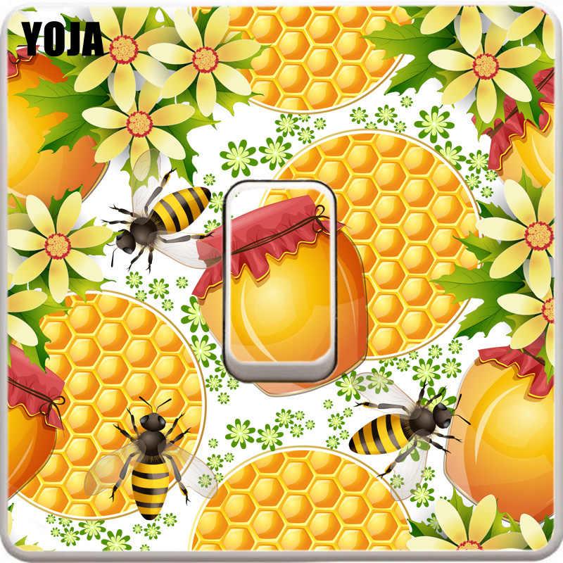YOJA Arılar PVC Oturma Odası Yatak Odası Dekor Duvar Sticker Renk Anahtarı Çıkartması 12ss0238