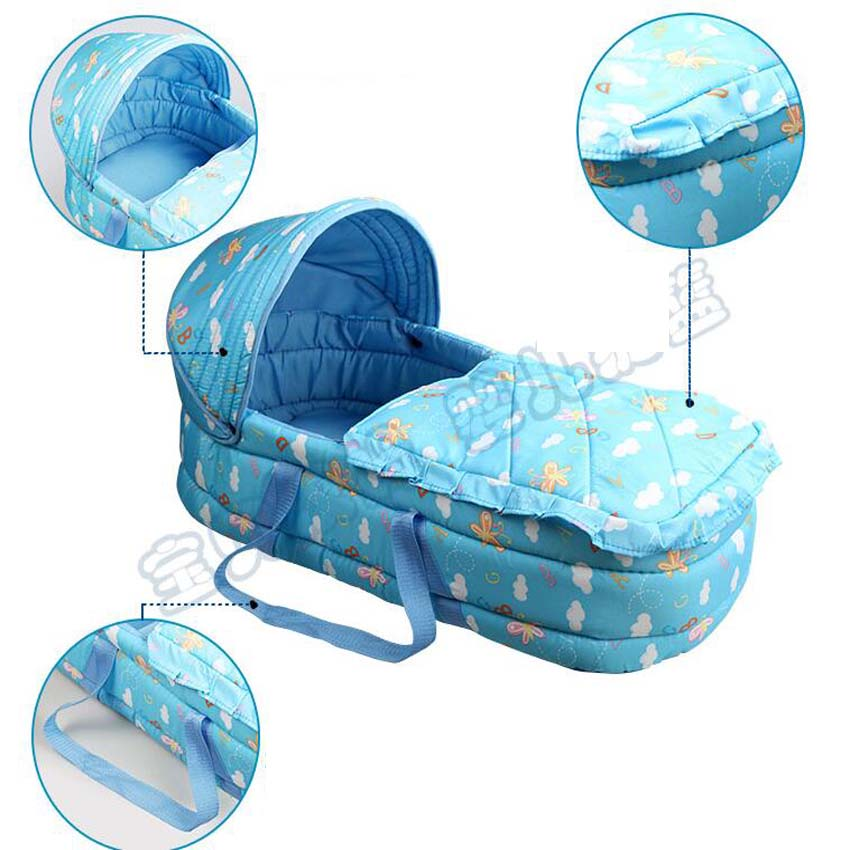 Port baby cotton bassinet baby gift colorful basket for easy out petite bassinet