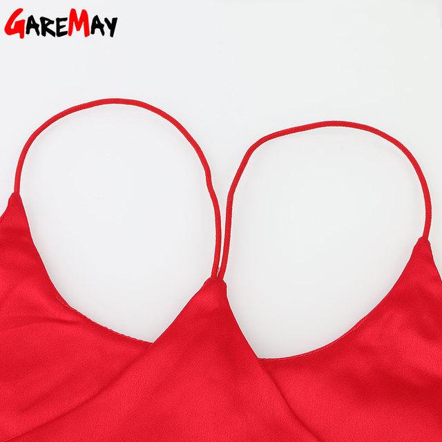 Silk Halter Top Women Camisole 2018 Summer Style Sexy Sleeveless Vest Slim White Crop Top Women Camis Roupas Femininas 3XL Y328a