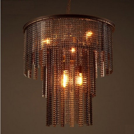 American Industrial Creative Bicycle Chain Droplight Edison Vintage Pendant Light Fixtures For Dining Room Hanging Lamp