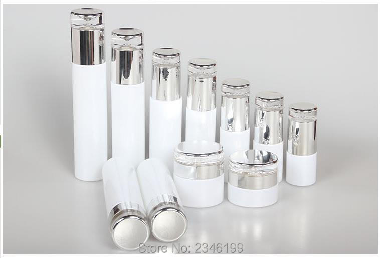 10pcs/lot Empty White Glass Cosmetic Spray Bottle, Facial Lotion Refillable Bottle, Cosmetic Toner Bottle, DIY Glass Cream Jar 150g aluminum jar refillable cosmetic cream bottle empty screw cap containers black pink gold white silver lotion tins