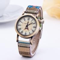 Folk Customl Women Quartz Wristwatches Lady Dress Bracelet Watches Floral Print Relogio Feminino Reloj Mujer Female