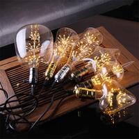 Retro Luz de Edison bombilla E27 220V 3W led Bombilla de filamento incandescente ampolla bombillas Vintage lámpara Edison retro bombilla casa Decoración