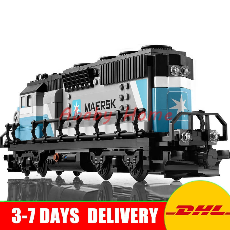 2017 DHL Lepin 21006 New 1234Pcs Genuine Technic Ultimate Series The Maersk Train Set Building Blocks Bricks Educational 10219 lepin 21006 compatible builder the maersk train 10219 building blocks policeman toys for children