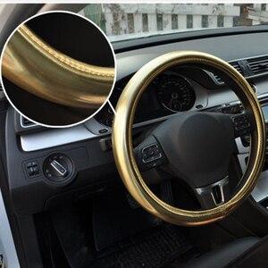 Image 3 - Nowe damskie spersonalizowane poświata na kierownicy samochodu/universal O SHI osłona na kierownicę do samochodu