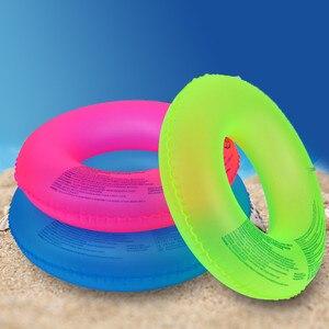 Flotadores fluorescentes de verano para adultos, flotadores inflables de círculo para piscina gruesa, flotadores hinchables para deportes acuáticos, novedad de verano