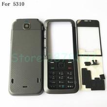 5d3d4a641cd Nuevo Original completa cubierta de la carcasa del teléfono móvil + inglés  teclado para Nokia 5310 con Logo