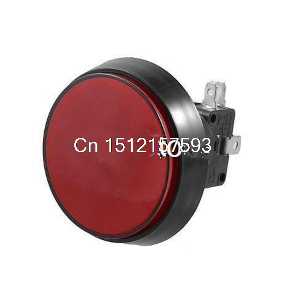 1pcs Big Red Cap Arcade Game AC 250V 15A 50mm Dia Red Yellow Blue Green White Micro Switch Circular Push Button MAX.D 60mm Lamp 0021 desk office colored abs steel push pins white yellow blue green red