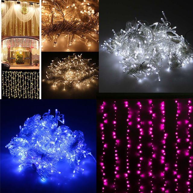 Us 14 99 50 Off 3mx3m 300led Curtain Icicle Led String Lights Christmas New Year Wedding Party Decorative Outdoor 220v Eu In From