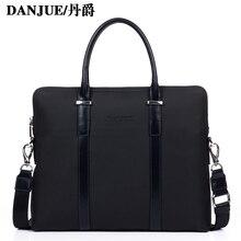 Genuine leather men's handbag cowhide high quality business 14″ laptop handbag New businessman briefcase