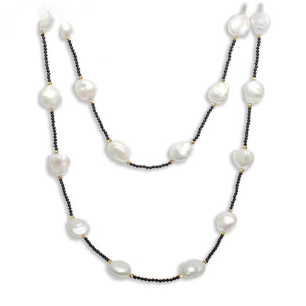 Fashion Pearl Necklace Natural Freshwater Pearl Baroque Natural Agate Choker Charm Accessories Statement Necklace For Women