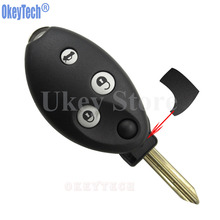OkeyTech New Style For Citroen C4 C5 2006 Saxo 2002 Car Flip Remote Key Case Shell 3 Button Keyless Replacement Fob Uncut Blade