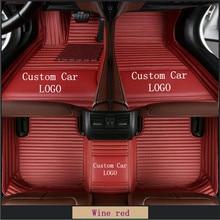 цена на Custom Car Floor Mats For ACURA MDX 2007-2017 ZDX 2009-2016 RL TL  Car floor mats Pads Automobile Waterproof Carpet