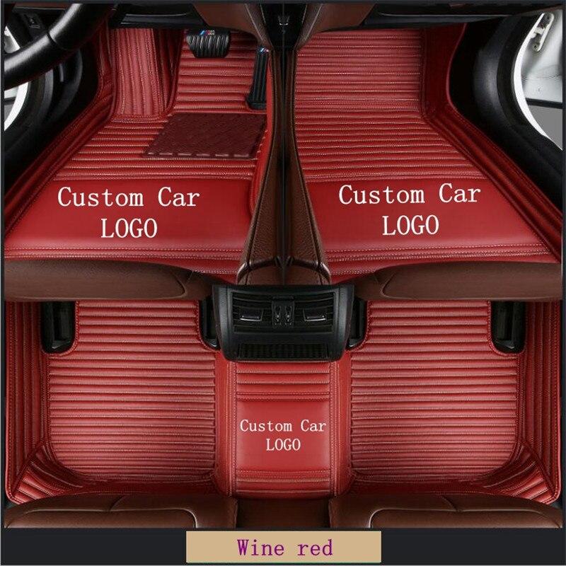 Luxury Custom Car Floor Mats For BMW 5 Series F10 E60 520i 525i 528i 530i 535i Car floor Mats For Auto Foot Pads Automobile