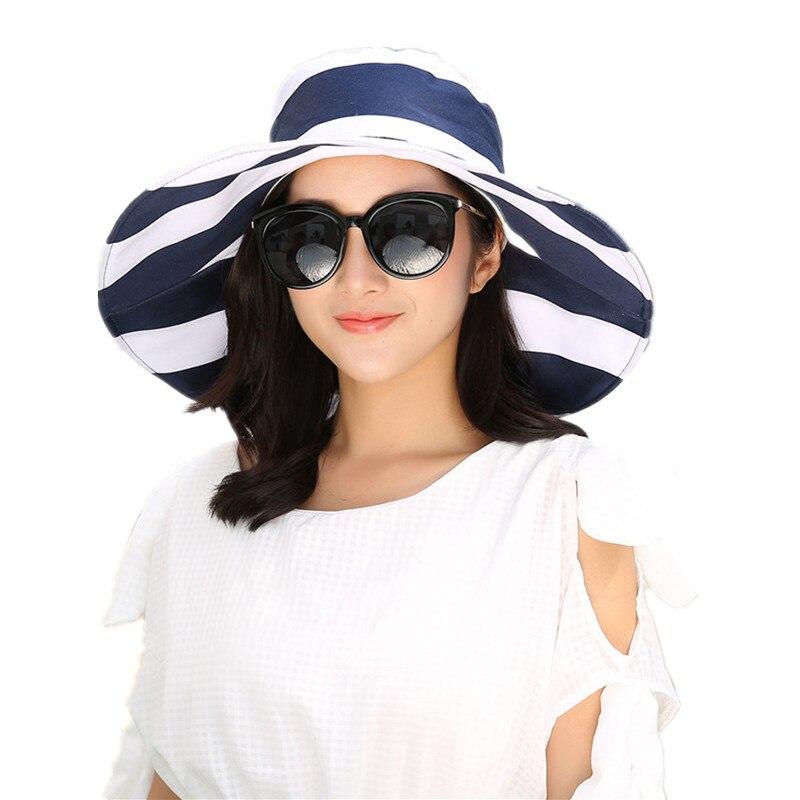 84068b019c4 2017 New Fashion Women Large Brimmed Sun Hats Foldable Lady Sunhat Bow  Women s Hat Summer Beach Floppy Cap Headwear Hot Sale-in Sun Hats from  Women s ...
