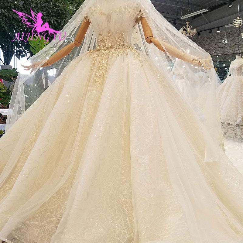 AIJINGYU Amazing Wedding Dresses Saudi Classic White
