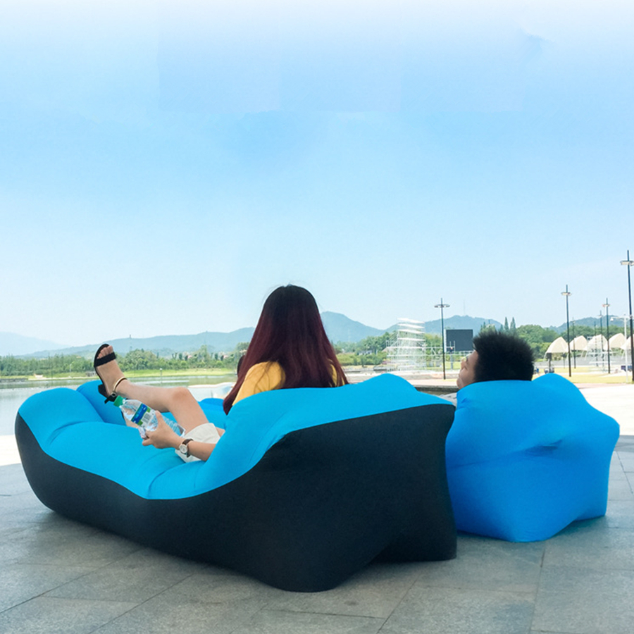 Inflatable Air Sofa Bed Garden Lazy Chair Outdoor Sleeping Bag Chair Beach Lounger Couch